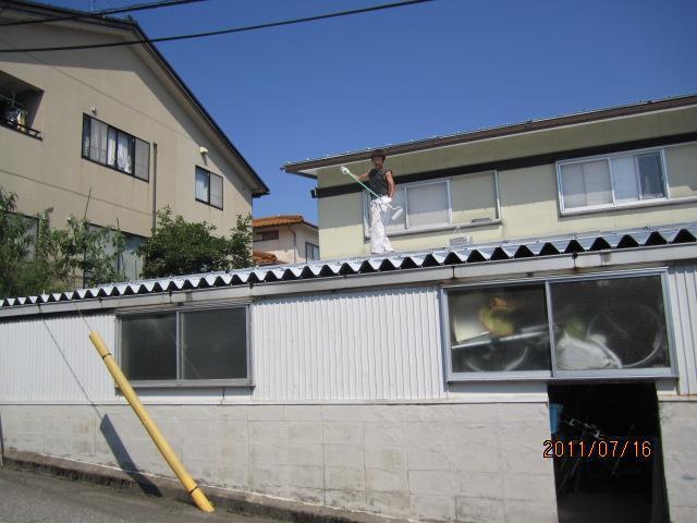 金沢市 K様邸 屋根熱交換塗料塗装例