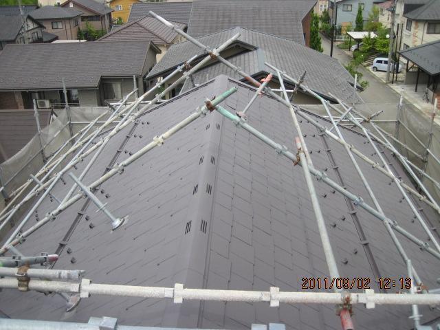 金沢市太陽が丘 S様邸 屋根熱交換塗料塗装工事例