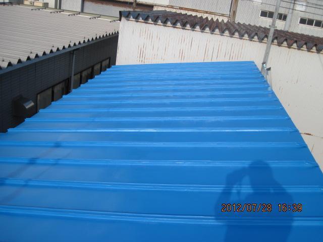 金沢市 K重機様 屋根熱交換塗料塗装事例