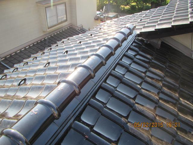 内灘町 K様邸 屋根葺き替え 小松瓦 太陽熱給水器撤去