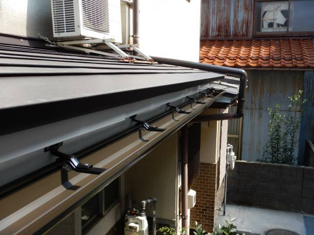 金沢市 M様邸 板金屋根・雨樋修理施工事例