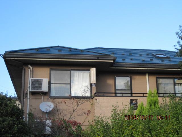 金沢市 S様邸 コロニアル屋根 カバー工法施工事例
