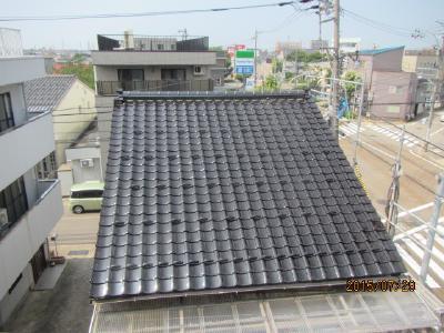 金沢市 T様邸 屋根葺き替え 小松瓦