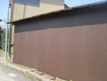 金沢市 M様邸 車庫外壁板金施工事例